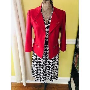 Adorable Inc. houndstooth dress, size M
